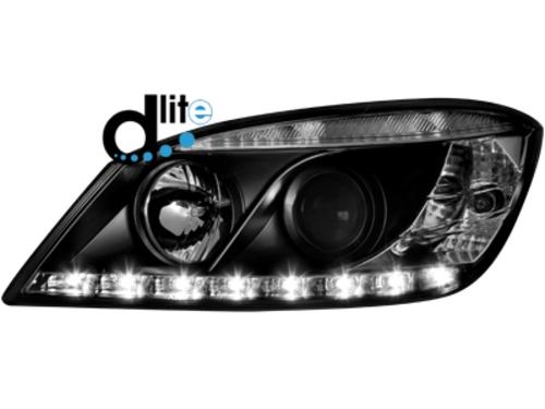 D-LITE přední světla s denním svícením Mercedes C-Klasse W204 07-12 černé