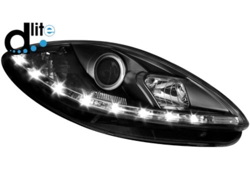 D-LITE přední světla s denním svícením Seat Leon 1P 09+ černé