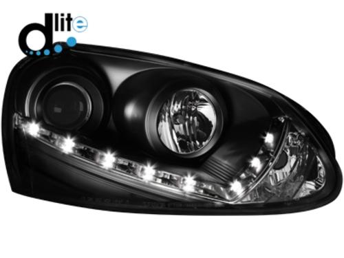 D-LITE přední světla s denním svícením VW Golf V černé