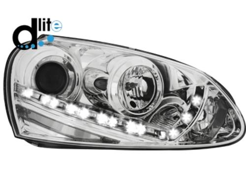 D-LITE přední světla s denním svícením VW Golf V XENON chrom