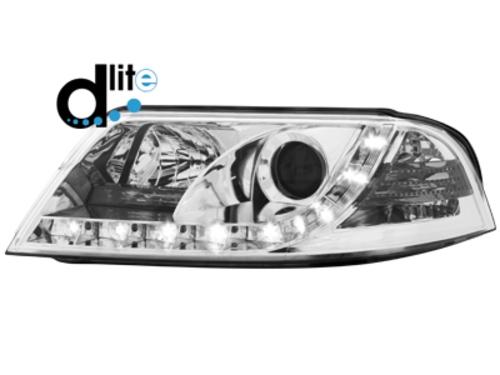 D-LITE přední světla s denním svícením VW Passat 3BG chrom