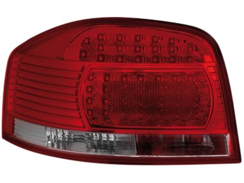 LED zadní světla Audi A3 8P 03-09 červené/crystal