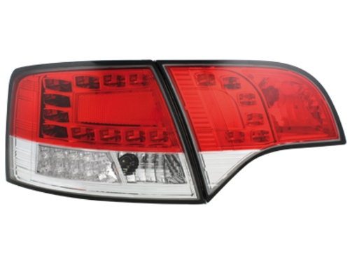 LED zadní světla Audi A4 Avant B7 04-08 LED blinkr červené/crystal