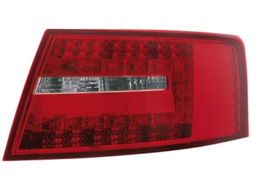 LED zadní světla Audi A6 4F sedan 04-08 červené/crystal