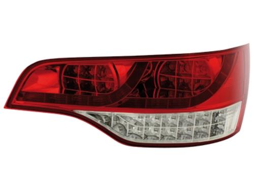 LED zadní světla Audi Q7 05-09 červené/crystal