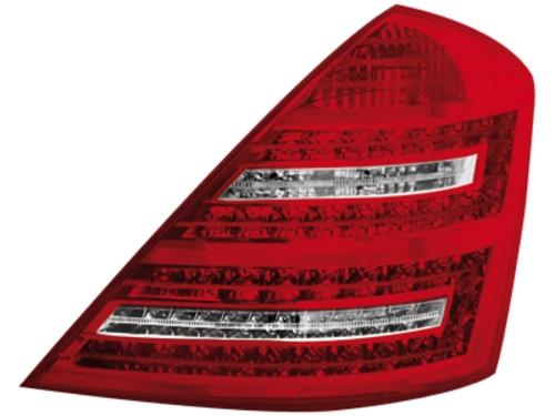 LED zadní světla Mercedes S W221 sedan červené/crystal
