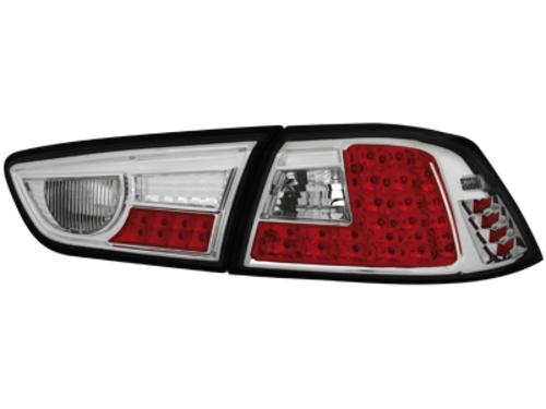 LED zadní světla Mitsubishi Lancer ab 08 chrom