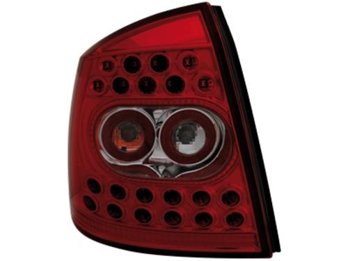 LED zadní světla Opel Astra G hathback 98-04 červené/crystal