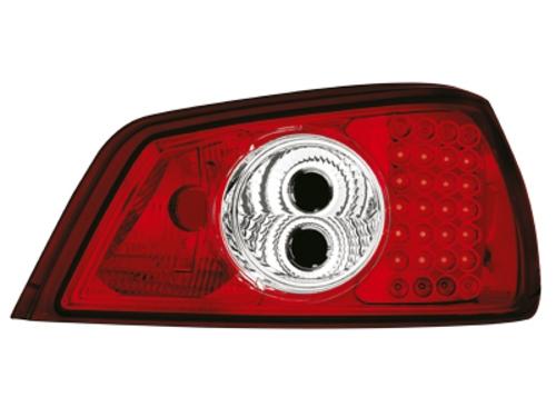 LED zadní světla Peugeot 306 92-96 červené/crystal