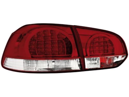 LED zadní světla VW Golf VI červené/crystal