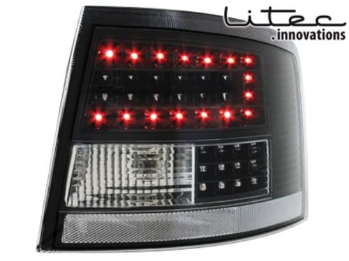 LITEC LED zadní světla Audi A6 Avant 4B 12.97-01.05 černé