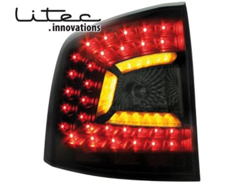 LITEC LED zadní světla Skoda Octavia 1Z Combi 04-08 černé/kouřové
