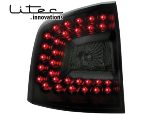 LITEC LED zadní světla Skoda Octavia 1Z Combi 2008+ černé/kouřové