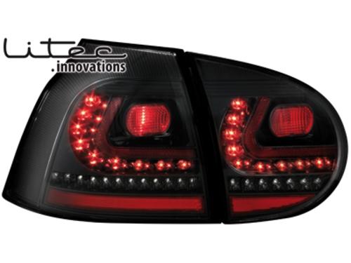 LITEC LED zadní světla VW Golf V 03-09 černé