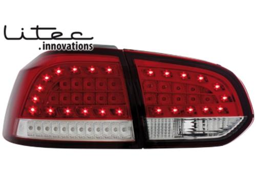 LITEC LED zadní světla VW Golf VI LED Blinker červené/crystal