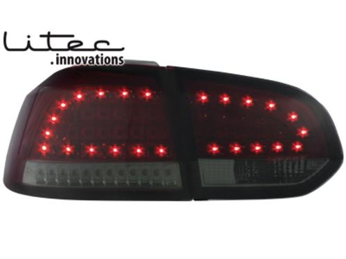 LITEC LED zadní světla VW Golf VI LED Blinker červené/kouřové