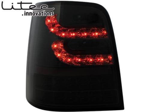 LITEC LED zadní světla VW Touran 2003+ černé/kouřové
