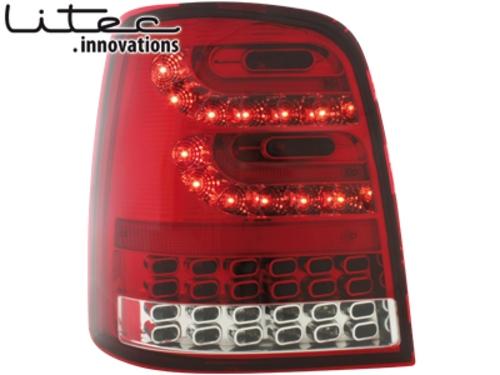 LITEC LED zadní světla VW Touran 2003+ červené/crystal