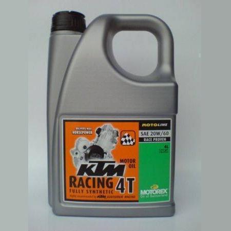 Motorový olej Motorex KTM RACING 4T 20W/60 4L