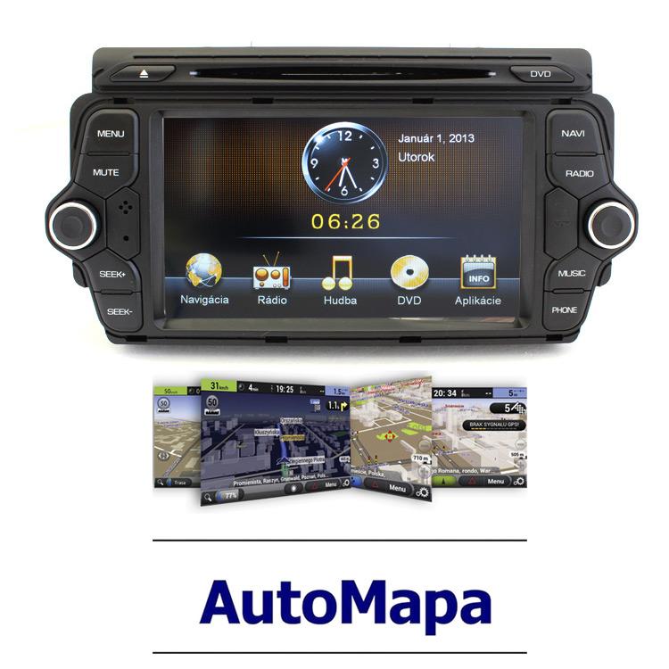 Multimediální rádio s navigací pro KIA CEED RR-KIACE01 NAVI