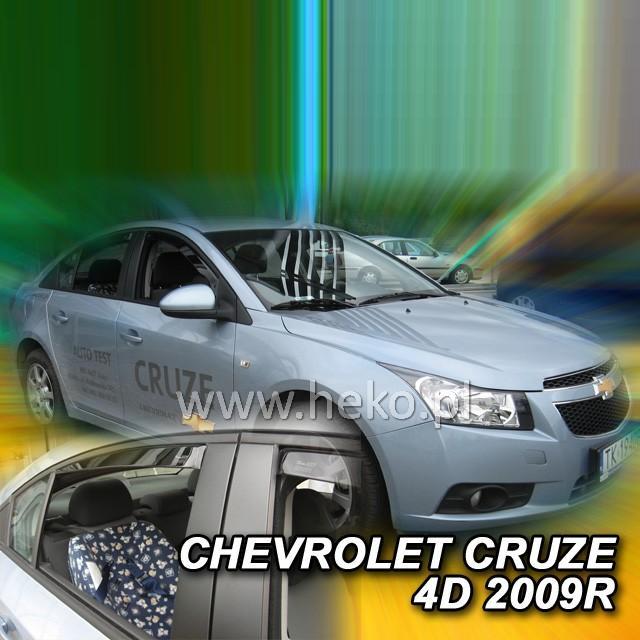 Protiprůvanové plexi ofuky (deflektory) Chevrolet Cruze 4D 09R(+zadní)