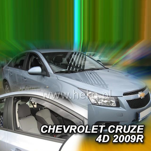 Protiprůvanové plexi ofuky (deflektory) Chevrolet Cruze 4D 09R