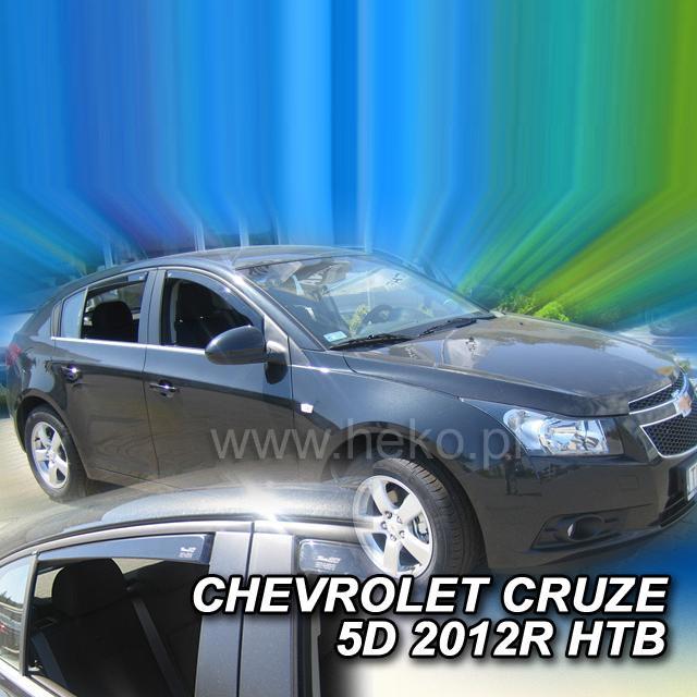 Protiprůvanové plexi ofuky (deflektory) Chevrolet Cruze 5D 11R (+zadní) htb