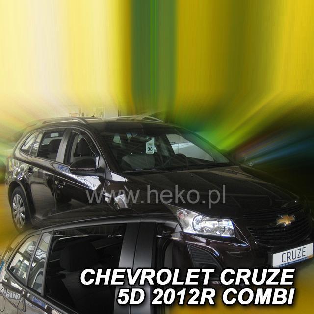 Protiprůvanové plexi ofuky (deflektory) Chevrolet Cruze 5D 12R (+zadní) combi