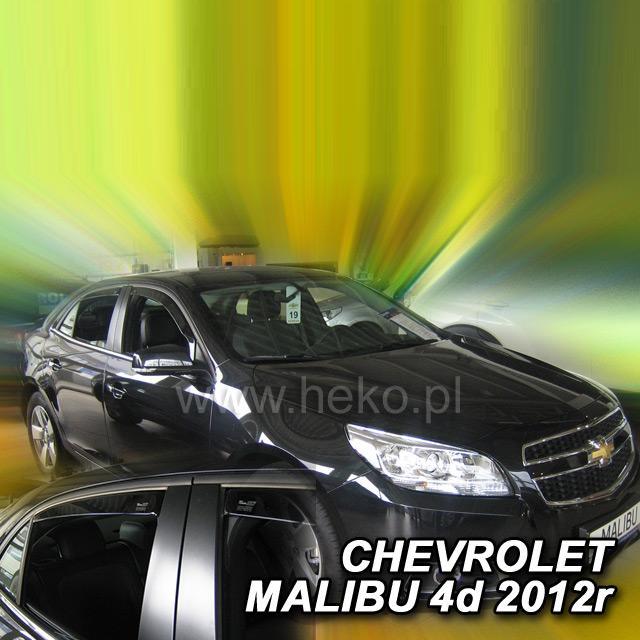 Protiprůvanové plexi ofuky (deflektory) Chevrolet Malibu IV 4D 12R(+zadní)