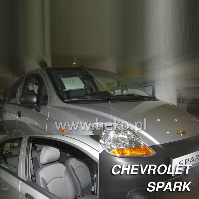 Protiprůvanové plexi ofuky (deflektory) Chevrolet Spark 5D 05R (+zadní) htb