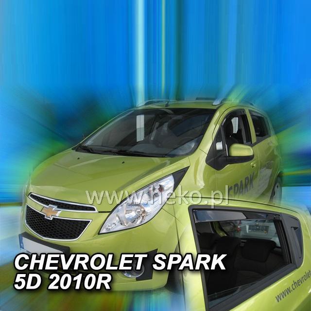 Protiprůvanové plexi ofuky (deflektory) Chevrolet Spark 5D 2010R (+zadní)