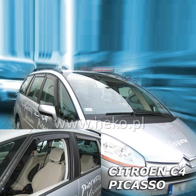 Protiprůvanové plexi ofuky (deflektory) Citroen C4 Picasso 5D 06R (+zadní)