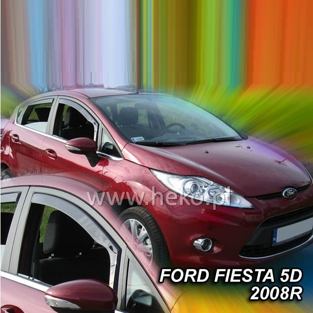 Protiprůvanové plexi ofuky (deflektory) Ford Fiesta 5D 08R