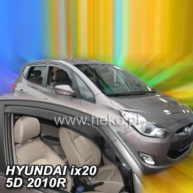 Protiprůvanové plexi ofuky (deflektory) Hyundai ix20 5D 10R