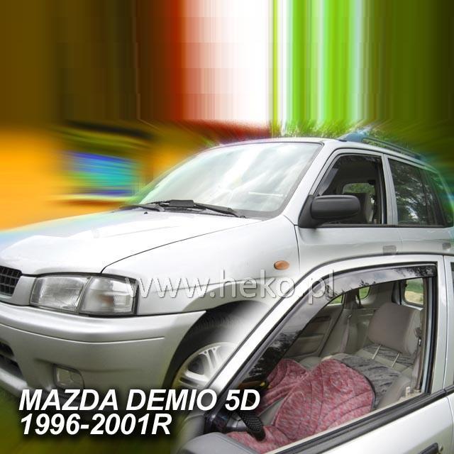 Protiprůvanové plexi ofuky (deflektory) Mazda Demio 5D 96--01R