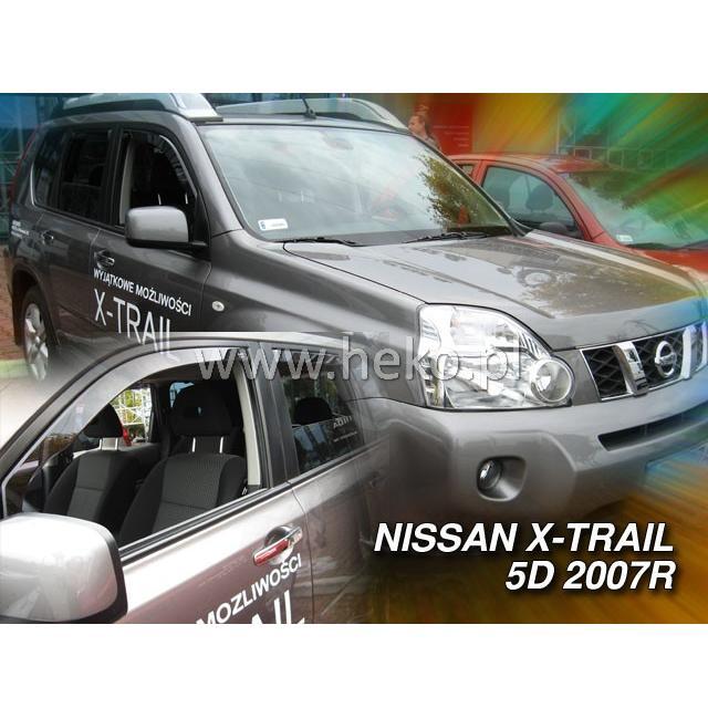 Protiprůvanové plexi ofuky (deflektory) Nissan X-Trail 5D 07R