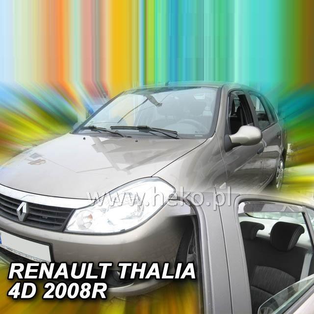 Protiprůvanové plexi ofuky (deflektory) Renault Thalia 4D 01R (+zadní)