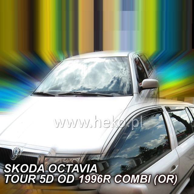 Protiprůvanové plexi ofuky (deflektory) Škoda Octávia 4D 97R (+zadní) Combi