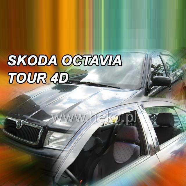 Protiprůvanové plexi ofuky (deflektory) Škoda Octávia 4D 97R (+zadní) Sedan