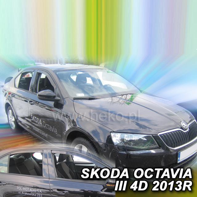 Protiprůvanové plexi ofuky (deflektory) Škoda Octávia III 5D 13R (+zadní) htb