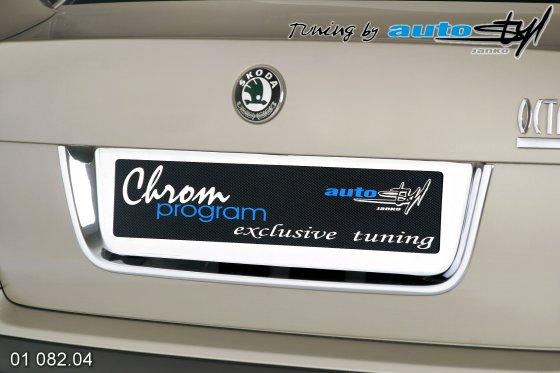 Rámeček registrační značky zadní - chrom Sedan