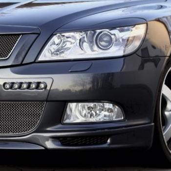 RS - Kryty světlometů Milotec (mračítka) - ABS černý, Škoda Octavia II. Facelift
