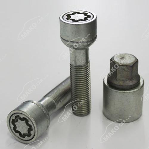 SICUSTAR pojistné šrouby M14x1,5x52 kulová R13, klíč 17