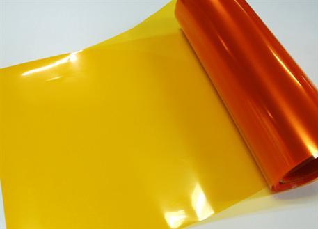 Transparentní fólie oranžová