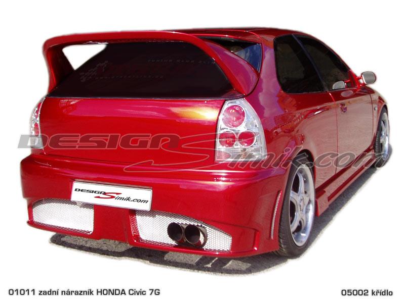 Zadní nárazník Honda Civic 6G 1996-2001, laminát