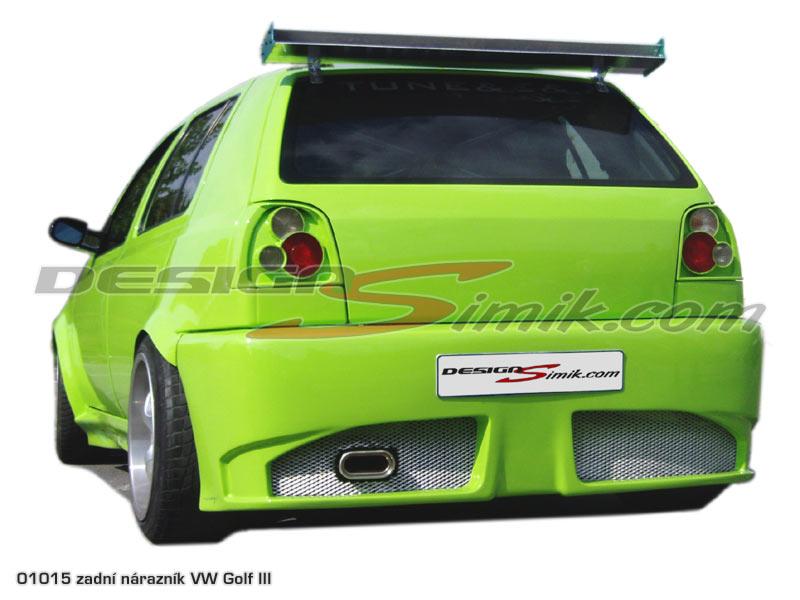 Zadní nárazník Volkswagen Golf III, laminát
