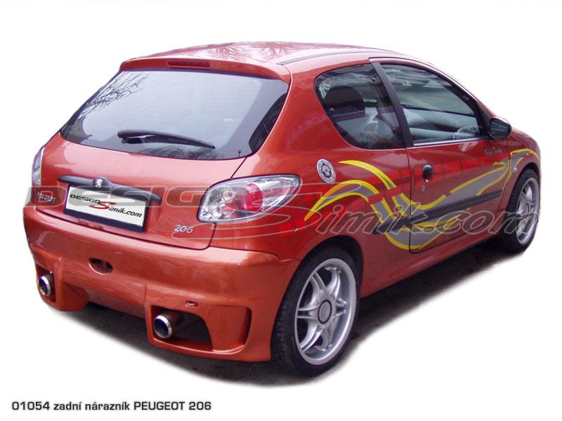 Zadní nárazníky Peugeot 206, laminát